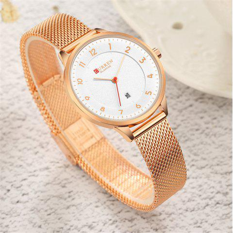 CURREN Women Classy Mesh Band Watch Ladies Analog Watch - multicolor A