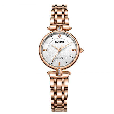 Rarone Luxury Stainless Steel Japan Quartz Lady Wristwatch - ROSE GOLD 1PC