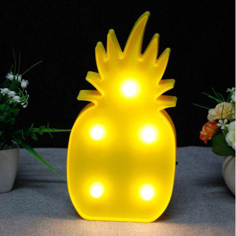 Cute LED Pineapple Decoration Light - YELLOW