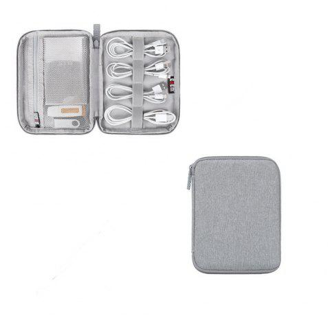 Travel Storage Bag Electronics Accessories USB Charger Case Data Cable Organizer - LIGHT GRAY