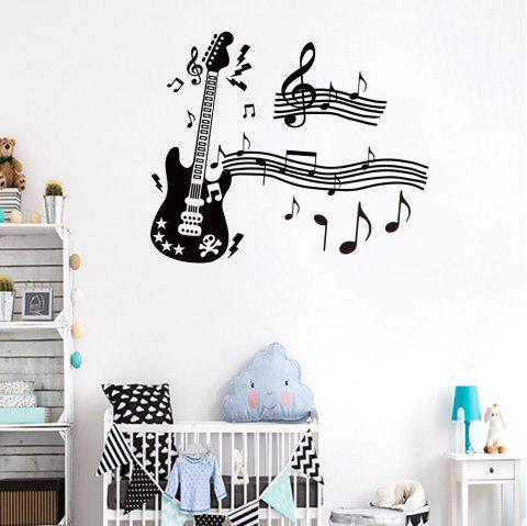 Guitar Music Wall Sticker for Living Room Bedroom Background Wall Decoration - BLACK 40*65CM