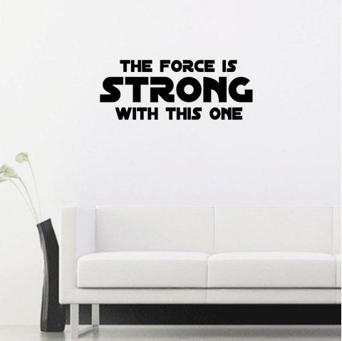 Force Art Apothegm Home Decal Wall Sticker Removable - BLACK 30*60CM