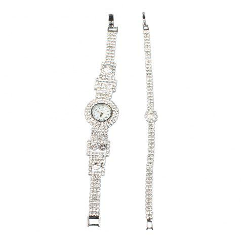 New Fashion Flower Bracelet Watch-C - SILVER