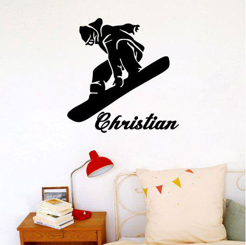 Skiing Sports Home Living Room Bedroom Wall Decoration Poster Removable - BLACK 41*42CM
