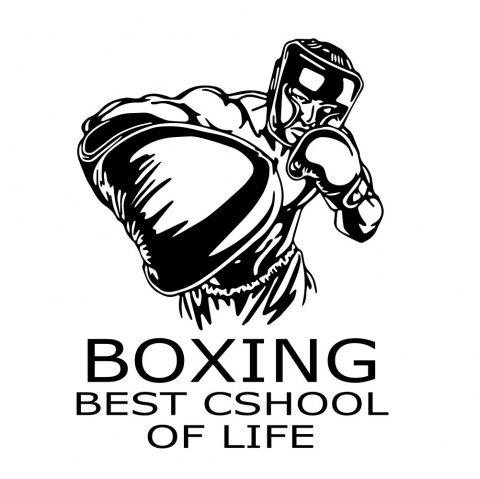 Boxing Removable Home Stickers Decorative Walls - BLACK 42*51CM
