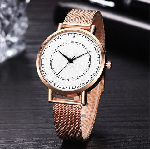Fashion Mesh Band Women Watch Simple Stainless Steel Quartz Watch - multicolor B