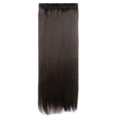 Women Solid Color 70cm Long Straight Hair Extension - JET BLACK
