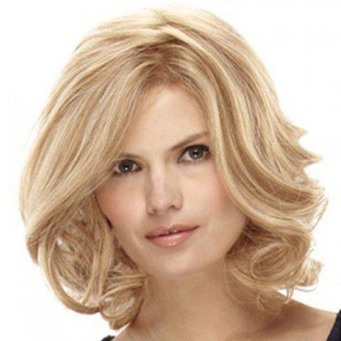 Central Parting Hair Style Egg Roll Style Short - TAN 16INCH