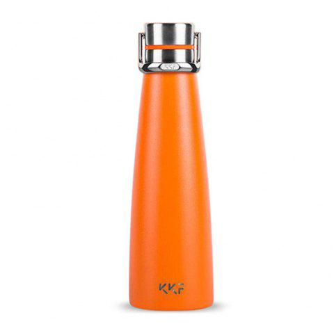Xiaomi KKF Smart Vacuum Thermos Water Cup OLED TEMP Affichage Isolation Tasse - Orange NORMAL VERSION
