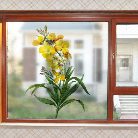 Blooming Flowers Removable PVC Window Film Wall Sticker Matte - multicolor 60X58CM