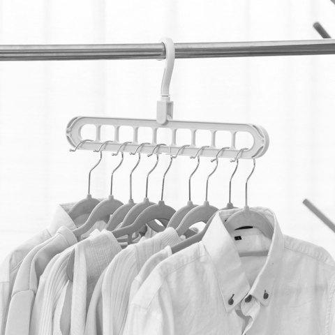 Multifunction Clothes Drying Rack Storage Hanger for Wardrobe Outdoor Balcony - WHITE