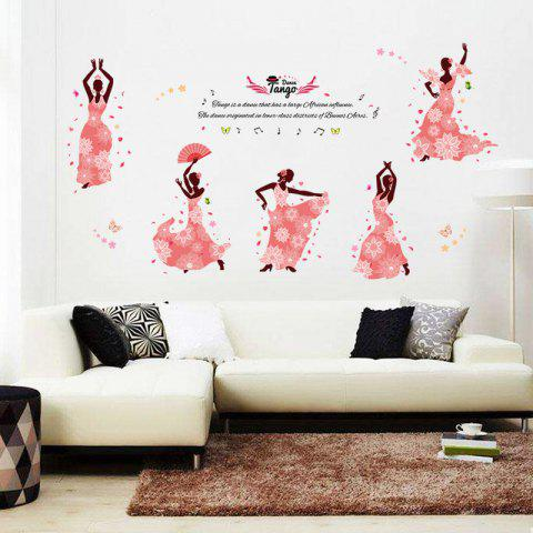 Flower Fairy Removable PVC Wall Sticker - multicolor 24 X 36 INCH