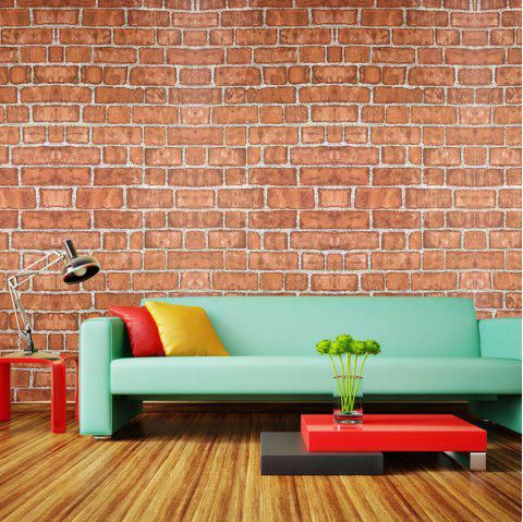 Fashion Brick Pattern Waterproof Self-adhesive Wallpaper - multicolor 100X45CM