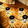Vintage Cylindrical Wrought Iron Decorative String Light - NATURAL BLACK 3M