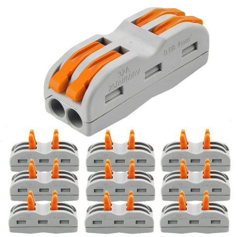 ZDM 2/3 Way Wire and Cable Electrical Connection Terminal Household Connector 10PCS - multicolor A