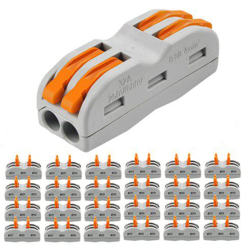 ZDM 2/3 Way Wire Cable Electrical Connection Terminal Household Connector 25 PCS - multicolor B