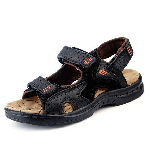 ZEACAVA Men Fashion Summer Sandales Casual à la main - Noir EU 38
