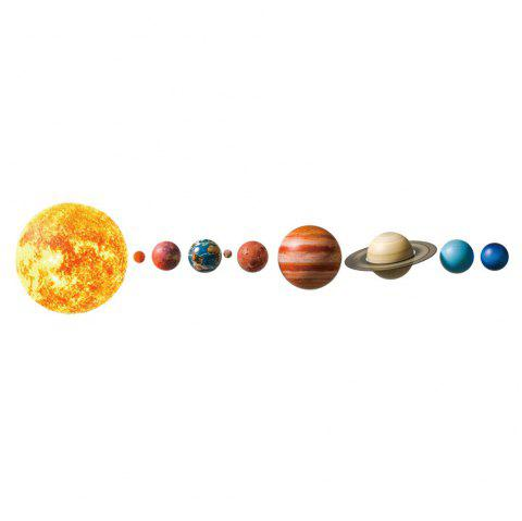 Creative Planet Removable PVC Wall Sticker - multicolor 20 X 28 INCH