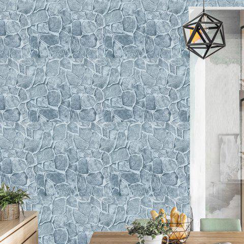 Stone Pattern PVC Waterproof Self-adhesive Wallpaper - multicolor 100X45CM