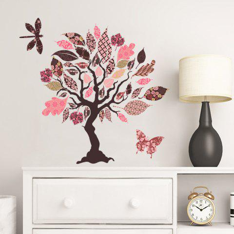 Color Tree Removable PVC Wall Sticker - multicolor 58X38CM