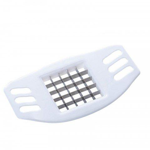 Potato Slicer Cutter Stainless Steel French Fry Chopper Chips Making Tool - WHITE