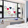 Creative Love Movable PVC Window Film Wall Sticker Matte - multicolor 60X58CM