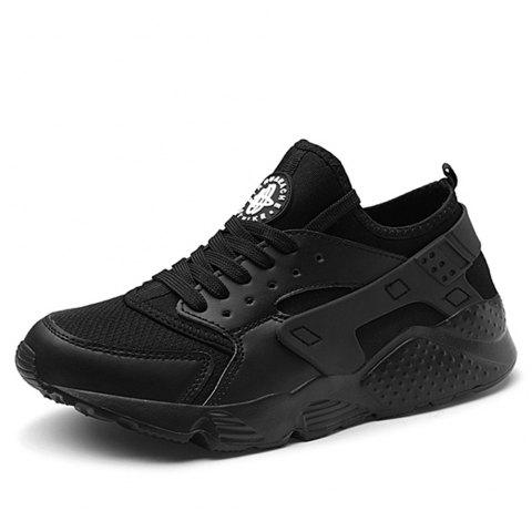 Chaussures pour hommes New Summer Mesh Youth Leisure Running Shoes - Noir EU 47