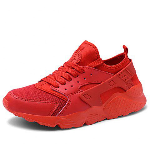 Chaussures pour hommes New Summer Mesh Youth Leisure Running Shoes - Rouge EU 40