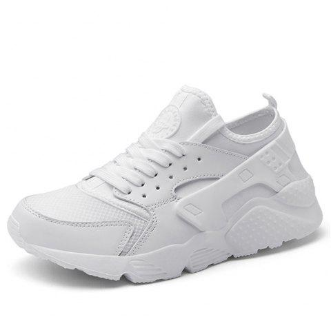 Chaussures pour hommes New Summer Mesh Youth Leisure Running Shoes - Blanc EU 44