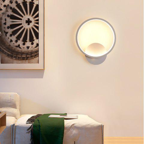 Simple Circular Wall Lamp for Home - WHITE 18W