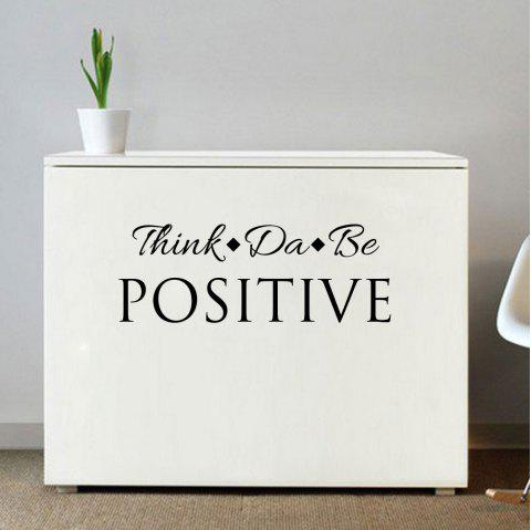 Creative Personal Motto Sticker Living Room Wall and Home Wall Sticker - BLACK 18*57CM