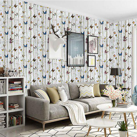 Colorful Butterfly Tree Waterproof Self-adhesive Wallpaper - multicolor 100X45CM