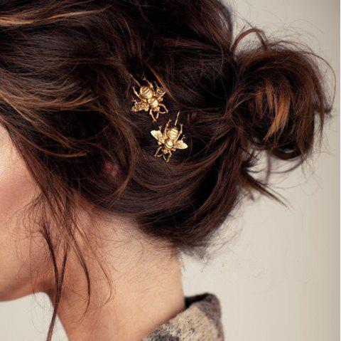Gold Color Bee Hair Clip - GOLD