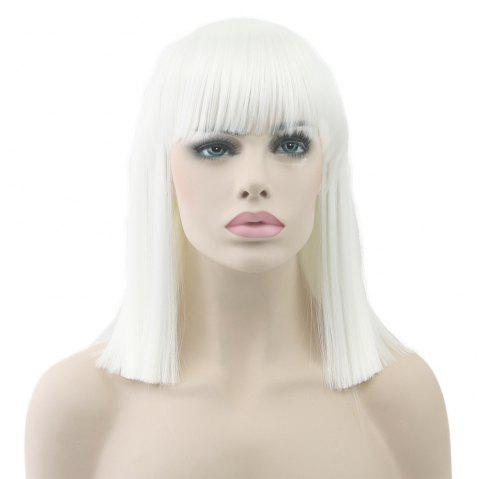 Anime Caifa Cosplay Wig Color BoBo Short Straight Hair - multicolor B REGULAR