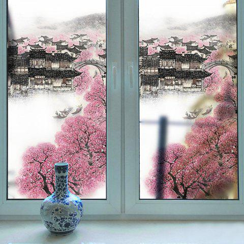 Creative Landscape Removable PVC Window Film Wall Sticker Matte - multicolor 116X60CM