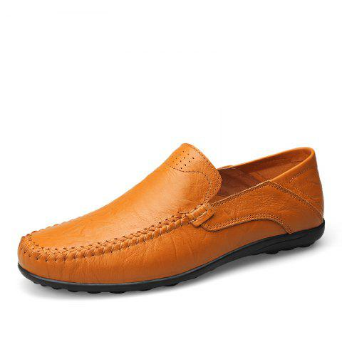 Cuir grande taille respirant hommes occasionnels chaussures pois - Orange Papaye EU 44