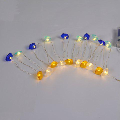 Button Bead LED Lamp String - MILK WHITE 20 LAMP 2 METERS