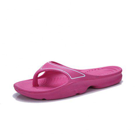 Fashion Breathable Low-top Canvas Slippers for Women - ROSE RED EU 36