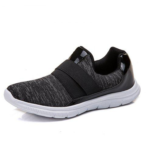Large Size Lightweight Non-slip Shock-Absorbing Mesh Casual Shoes for Women - BLACK EU 41
