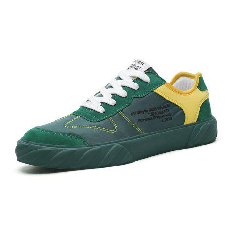 Breathable Color Cloth Upper Sports Casual Wild Tide Shoes for Men - SEAWEED GREEN EU 41
