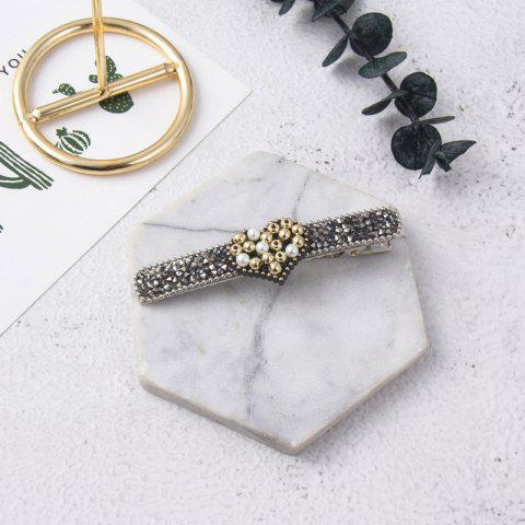 Love Pearl Hairpin with Diamond Side Clip Girl - multicolor B 1PC