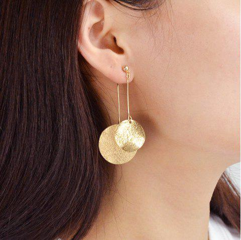 Gold Silver Color with Round Drop Earring - GOLD