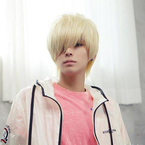 Male Handsome Role Playing Wig - WARM WHITE 1PC