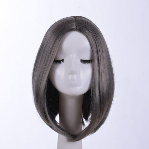 European and American Short Hair High Temperature Silk Lady Wig - PLATINUM 1PC