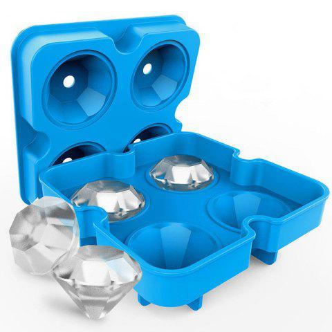 Flexible Silicone Ice Cube Mold Tray - DEEP SKY BLUE