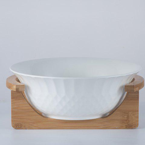 Creative Ceramic Fruit Salad Bowl Soup Bowl Noodle Bowl - MILK WHITE