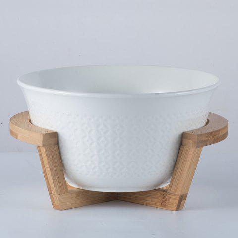 Creative Ceramic Fruit Salad Bowl Soup Bowl Noodle Bowl - WHITE