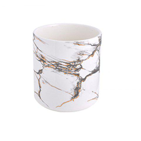 Nordic Marble Decoration Hotel Living Room Vase Furnishings - WHITE L