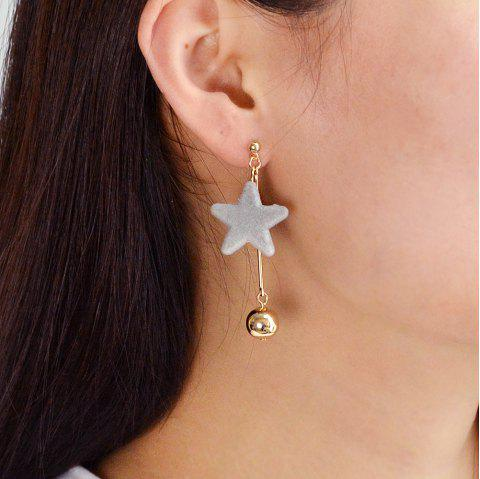 Gold-Color with Star Dangle Earring - GRAY CLOUD