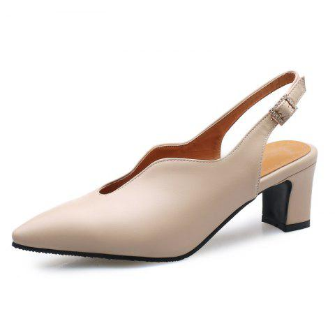 Professional Sandals with Pointed Outcrop and Buckle - APRICOT EU 42